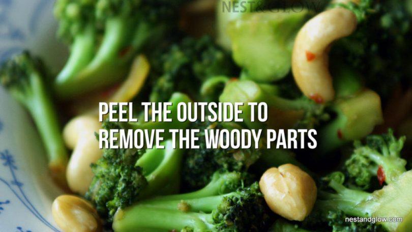 eat Broccoli stems