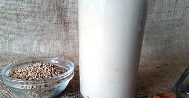 Sesame Seed Cinnamon Milk Recipe