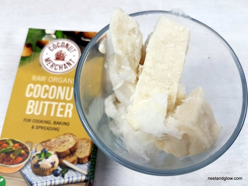 Coconut butter and it's packaging