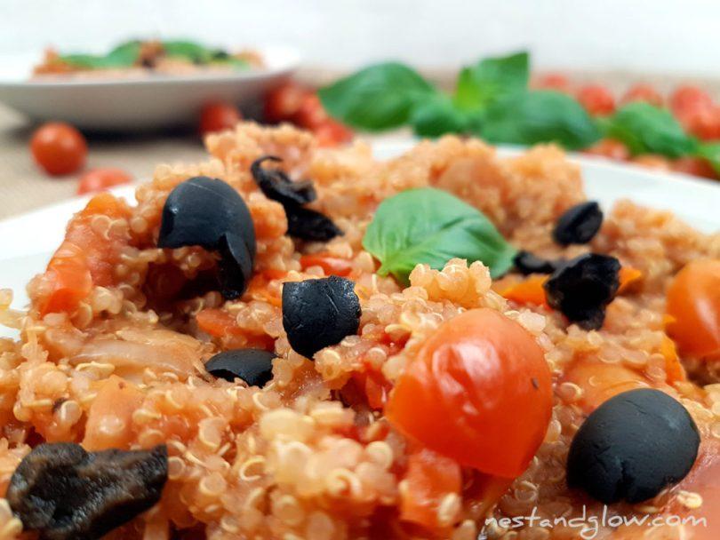 Gluten Free One-pot Tomato BasilQuinoa
