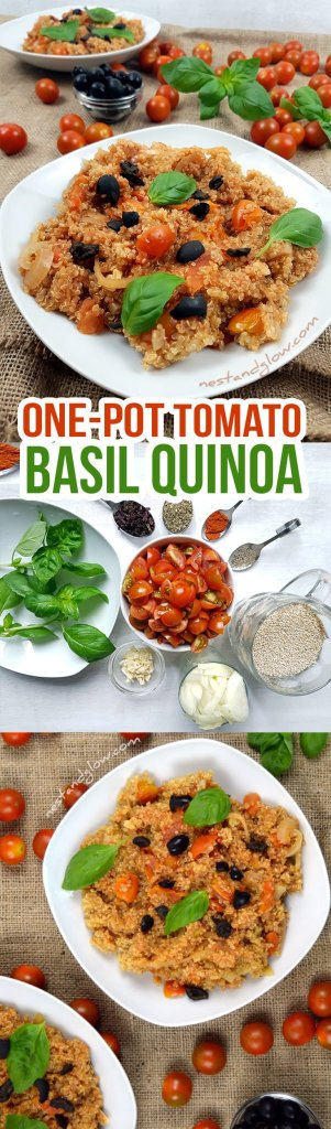 One-pot Tomato Basil Quinoa Easy Recipe