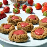 Raw Strawberry Thumbprint Cookies