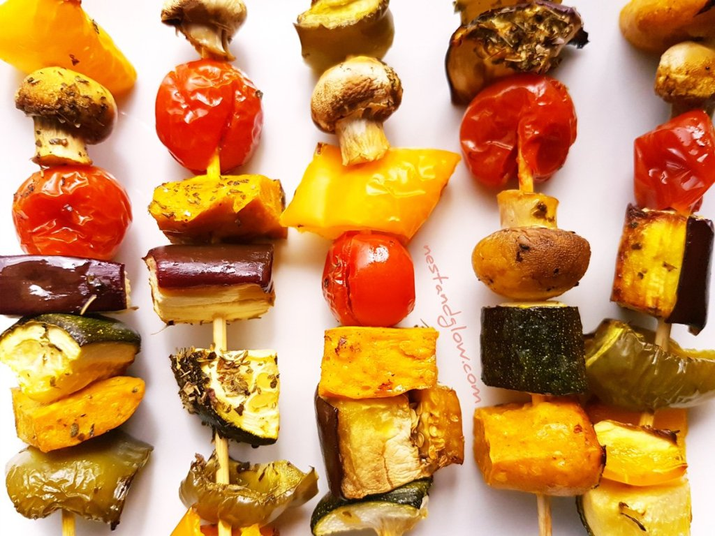 Chickpea Tofu Mediterranean Vegetable Kebabs Recipe