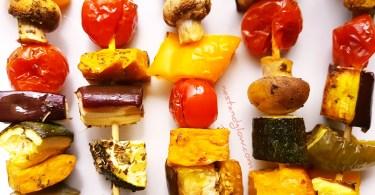 Chickpea TofuMediterranean Vegetable Kebabs Recipe