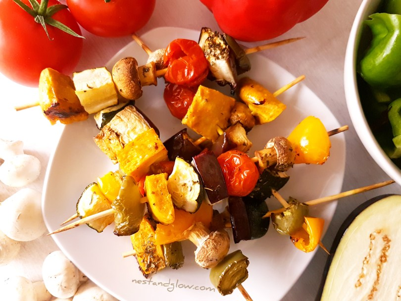 Chickpea Tofu Mediterranean Vegetable Kebabs