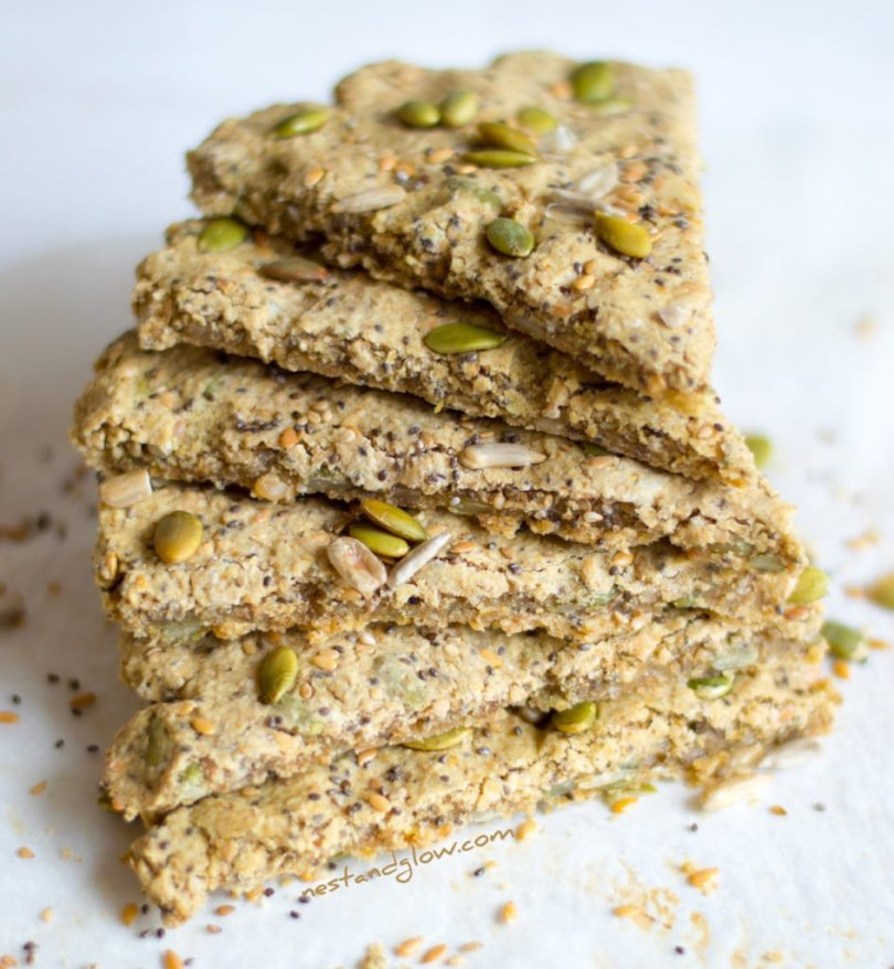 A stack of Five Seed Oatcakes