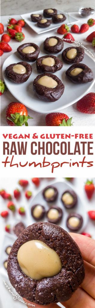 Raw Vegan Chocolate CashewThumbprints - Gluten-free and healthy