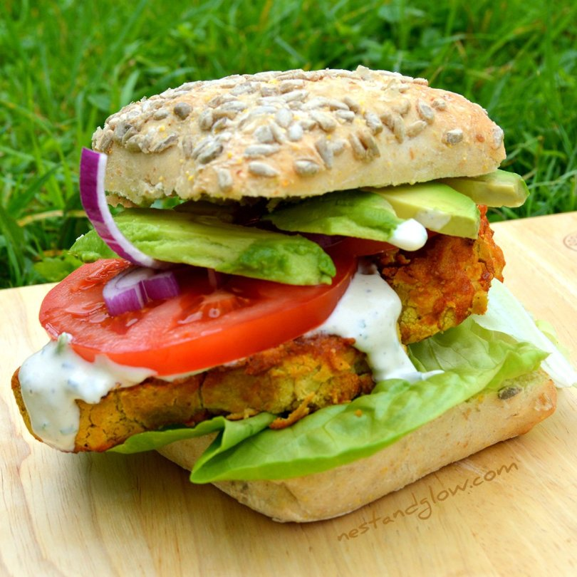 Chickpea Cauliflower Spicy Burger Recipe