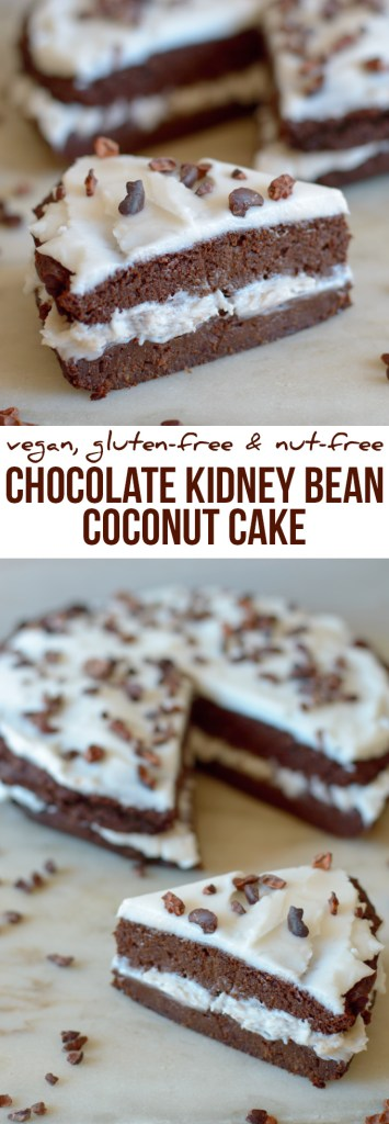 Kidney Bean and Coconut Chocolate Cake Recipe - Vegan and Gluten-free