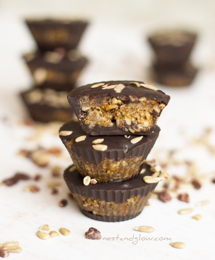Sunflower Caramel Dark Chocolate Cups Nut Free