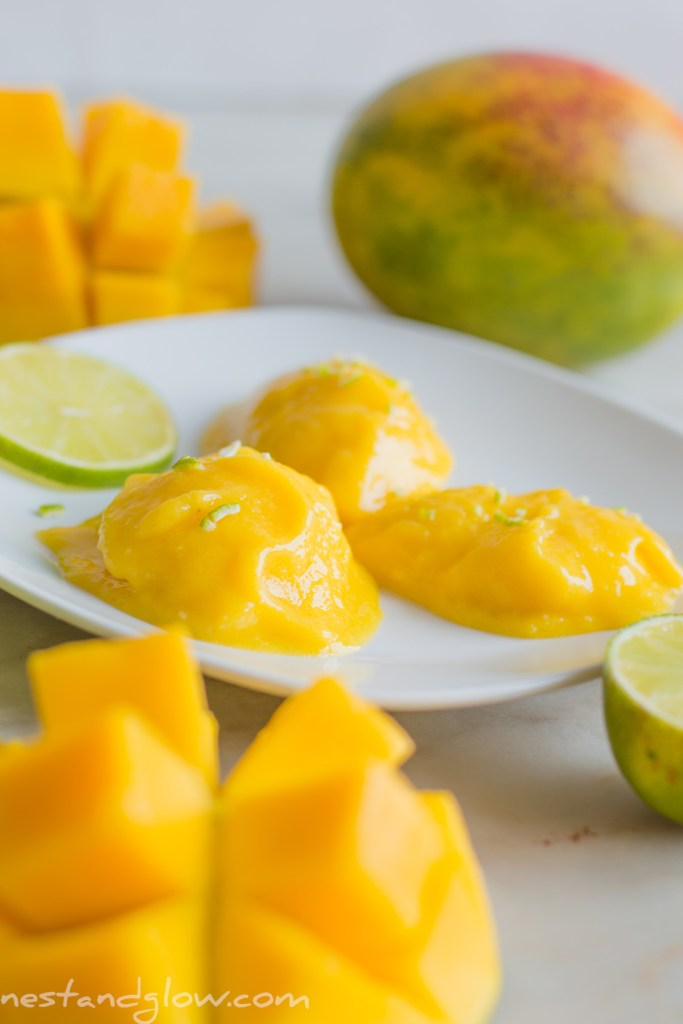 easy healthy mango sorbet