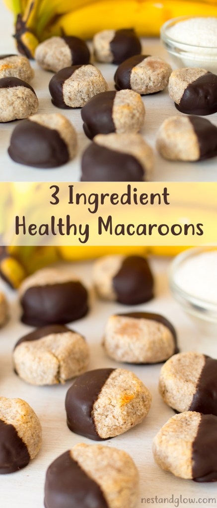 3 Ingredient Chocolate Banana Coconut Macaroons Recipe