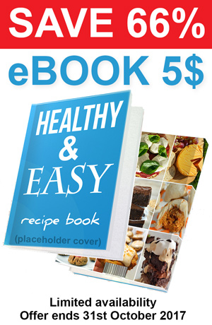 Save 66% Healthy and Easy Recipe Book $5