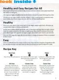 healthy easy recipe book look inside intro
