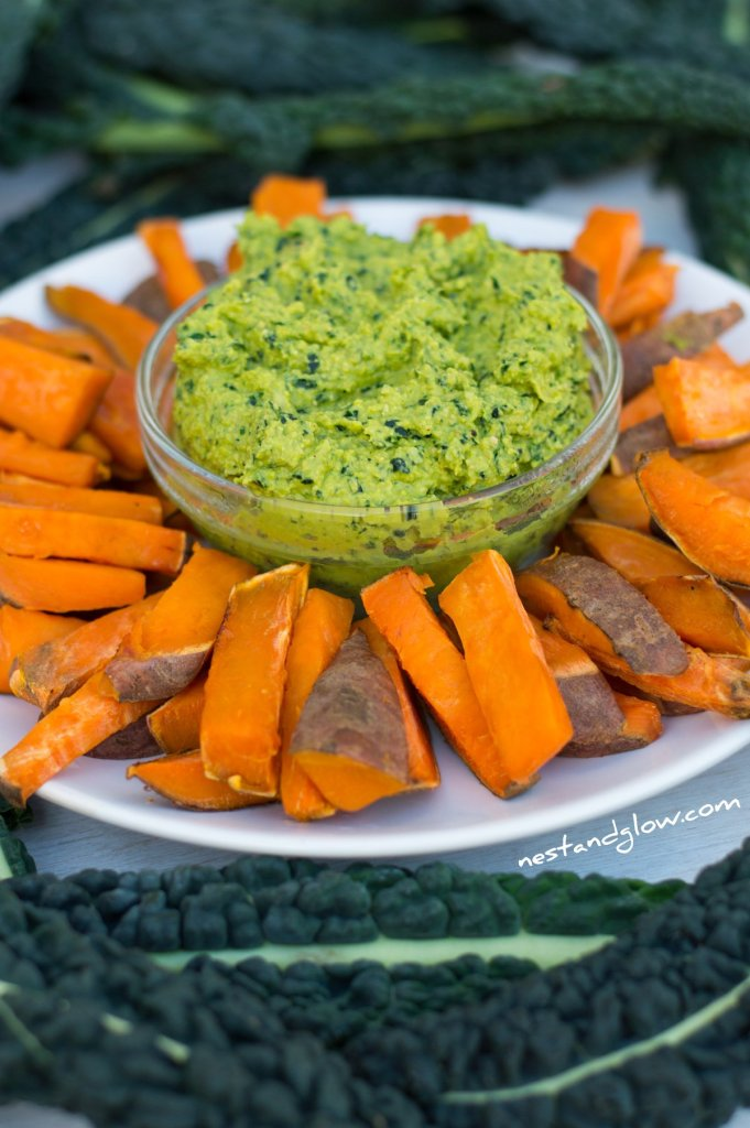 Kale Hummus and Sweet Potato Chips Plant-based