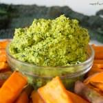 Kale Hummus and Sweet PotatoChips