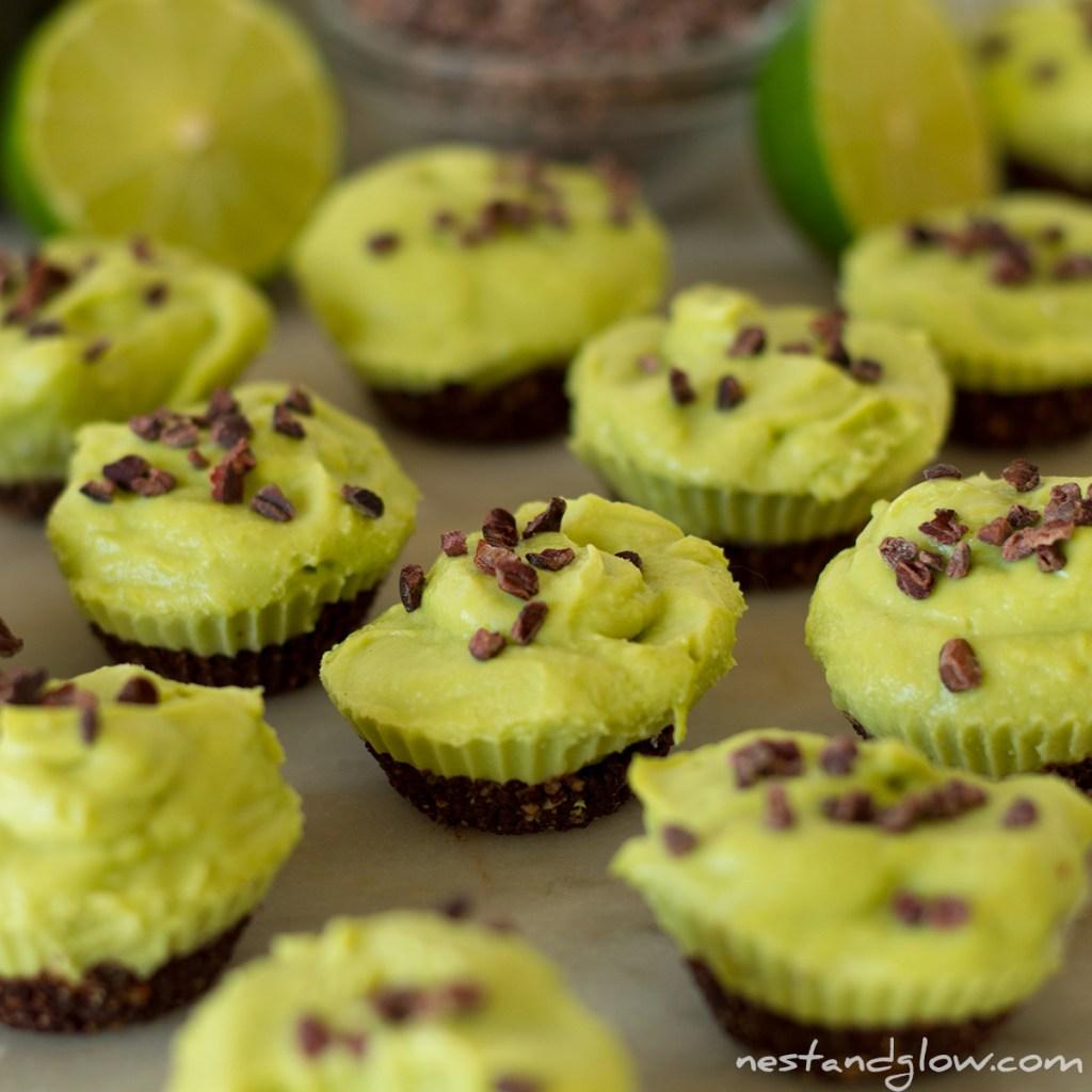 Easy Vegan Chocolate Avocado Lime Cheesecake