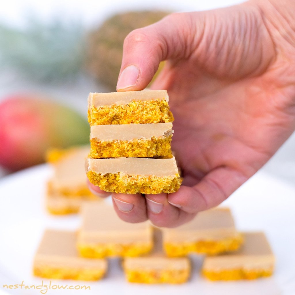 Tropical Smoothie fudge with mango and pineapple