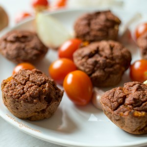 Plate of quinoa muffins
