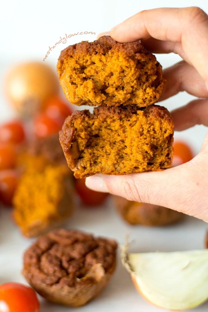 Fluffy gluten-free savoury quinoa muffins