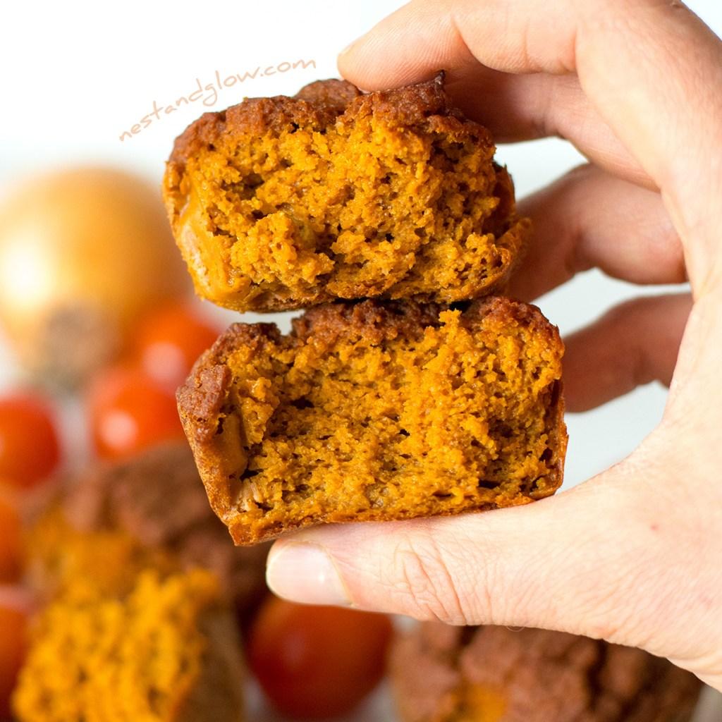 Open Quinoa Sundried Tomato Muffins