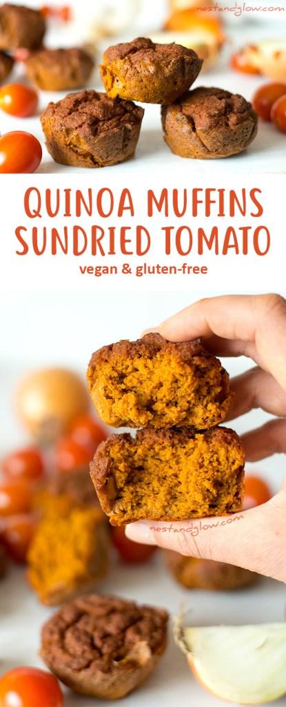 Quinoa Sundried Tomato Muffins Recipe - Vegan and Gluten-free