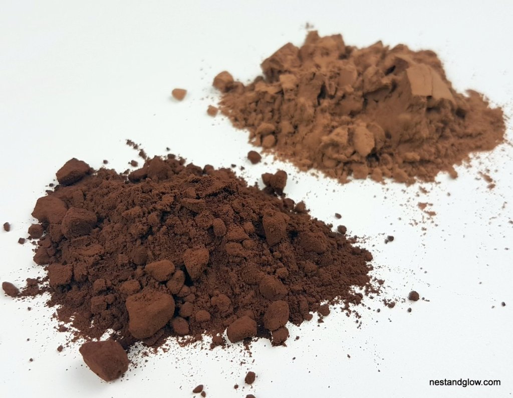 cocoa powder darker than cacao