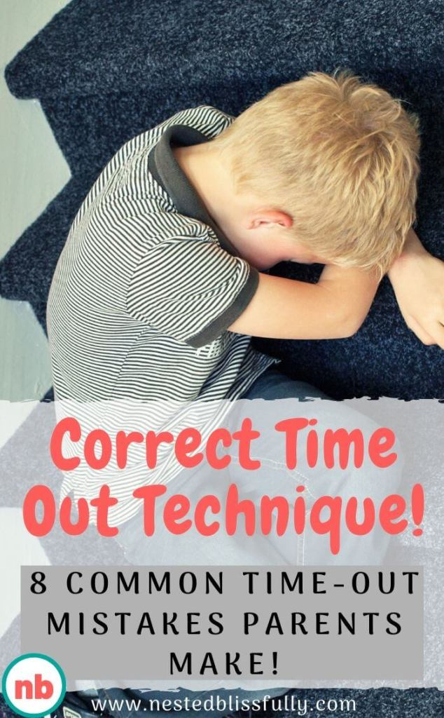 Learn the correct time out technique, plus 8 common time out mistakes parents make. Time Out Ideas for kids and for 2 year old children. It could be a time out chair or a time out corner, the main point is using the correct time out technique, so your child does not feel like it's a punishment, but rather gets the most of time out benefits.