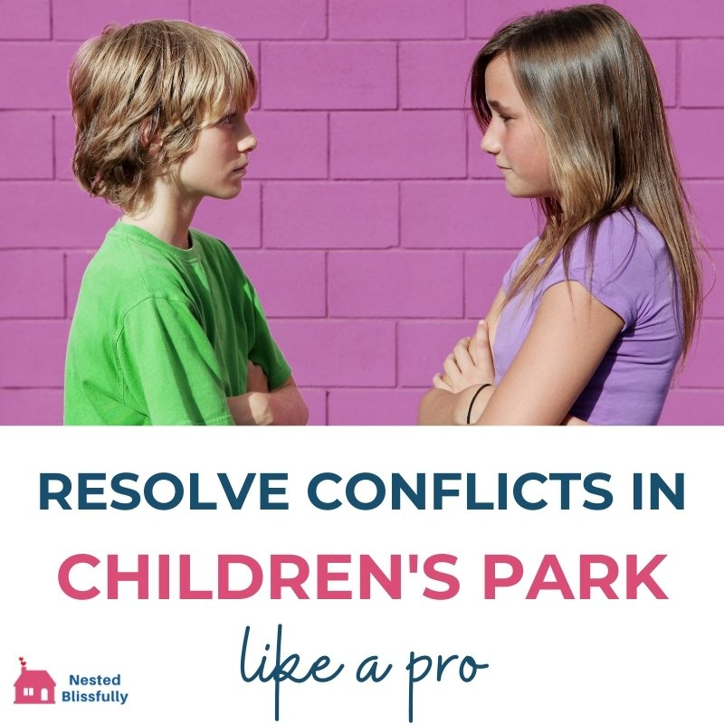 how to resolve conflicts in childrens park
