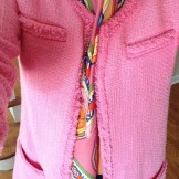 Pink Boucle Jacket and Hermes Scarf ~ Nesting with Style