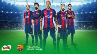 Image result for fc barcelona milo nestle