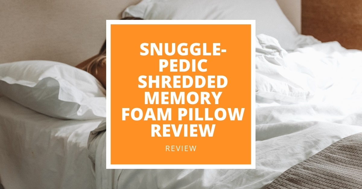 snuggle pedic shredded memory foam
