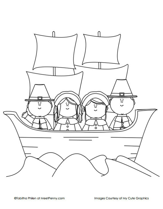 coloring pages mayflower pilgrims corn - photo#13