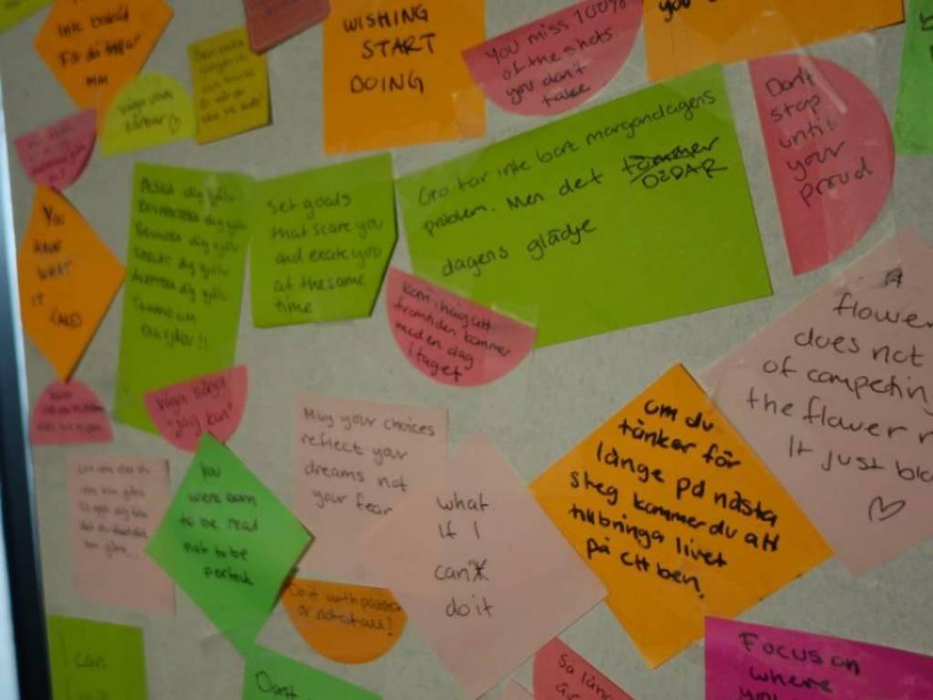 Tapetsera en vägg med peppande ord och citat!