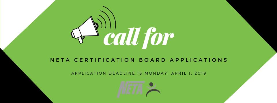Call for NETA Board Certification Applications