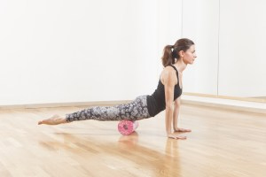 Stretching with a foam roller