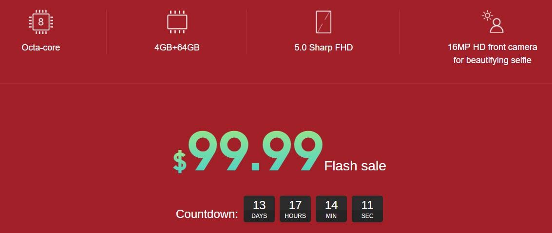 Elephone P8 Mini Flash sale