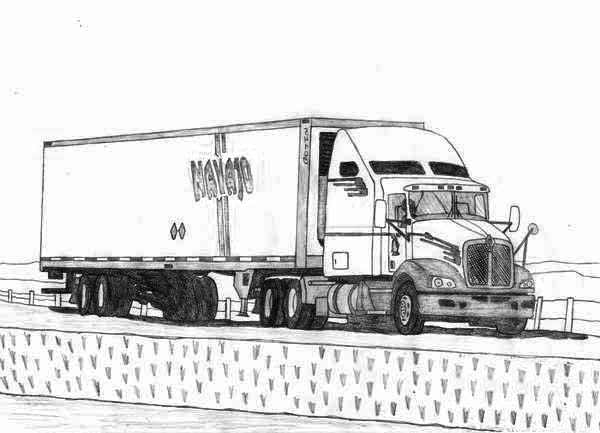 18 wheeler coloring pages 18 wheeler semi truck coloring