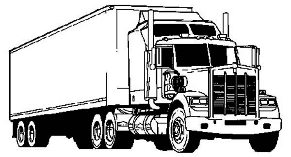 coloring page here home semi truck awesome semi truck coloring page