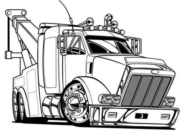 tow semi truck coloring page here home semi truck big tow semi truck