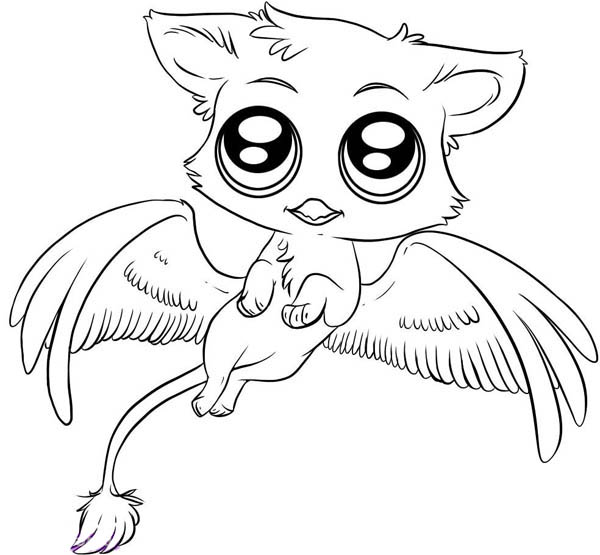 here home chibi characters cute gryphon chibi drawing coloring page