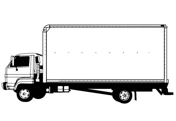 drawing semi truck coloring page netart