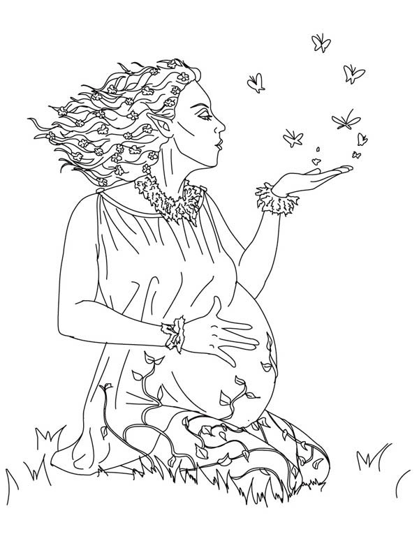 gaia from greek gods and goddesses coloring page  netart