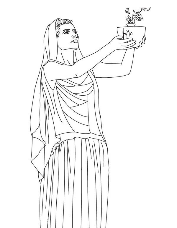 hestia from greek gods and goddesses coloring page  netart