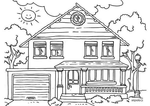 house coloring pages agertk