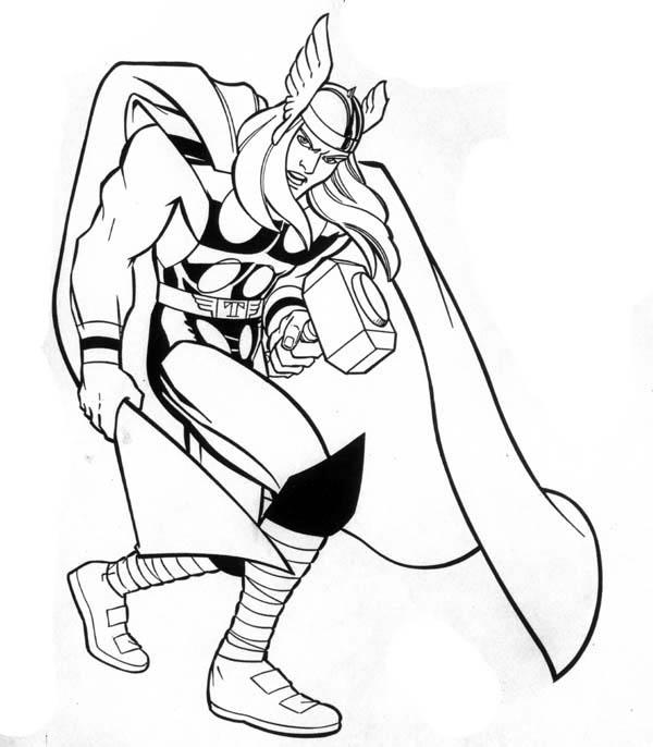 thor coloring page here home superheroes marvel hero thor coloring