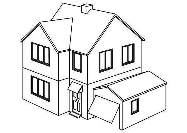 opening garage houses coloring page netart