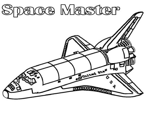 space master spaceship coloring page netart