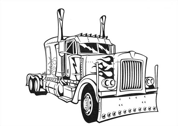 transformer 39 s optimus prime semi truck coloring page netart