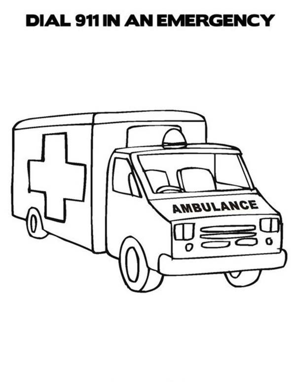 ambulance coloring pages to print ambulance coloring pages